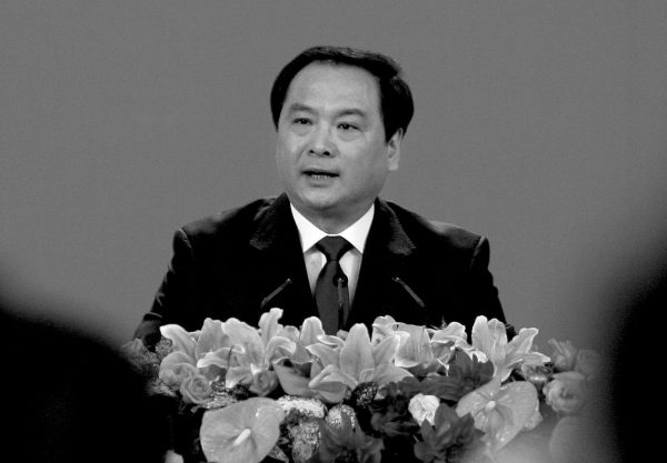 Li Dongsheng, former head of the secret police task force the 610 Office, in the Great Hall of the People in Beijing on Oct. 14, 2007. (Frederic J. Brown/AFP/Getty Images)