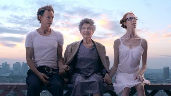 "Dominique Abel, Emmanuelle Riva, and Fiona Gordon in ""Lost in Paris."" (Dominique Abel, Emmanuelle Riva, and Fiona Gordon in ""Lost in Paris."" (mk2 Films)"