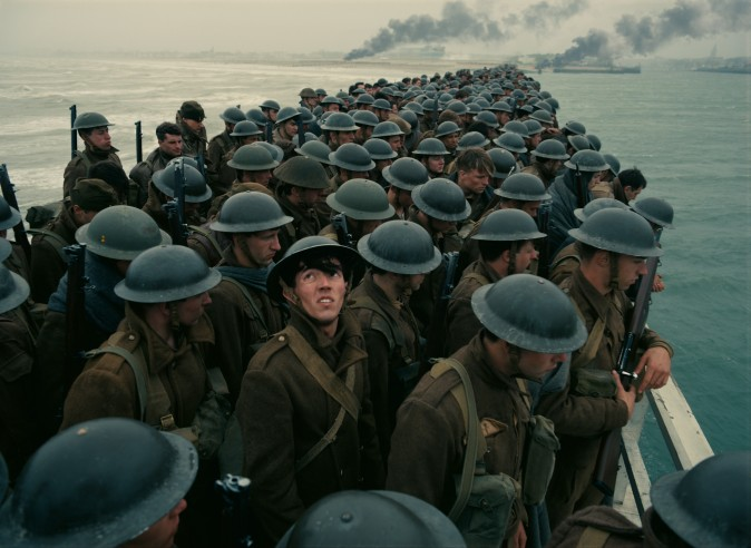 "Stranded soldiers in a scene from the Warner Bros. Pictures action thriller ""Dunkirk,"