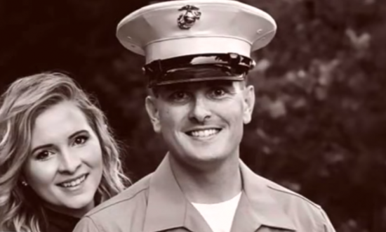 Marine husband couldn't be home for the holidays—so she placed a call that's now going viral