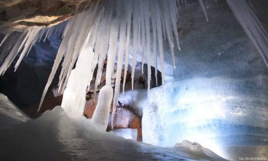 Man discovered dark cave in Austria—then realized inside was the 'world of ice giants'