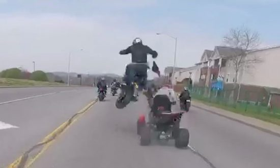 Biker Tried a Wheelie—Split Second Later He's Thrown 10 Feet Into the Air