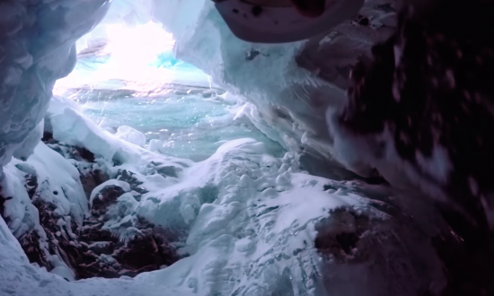 Skier had fallen into a crevice—his camera captures all our worst nightmares