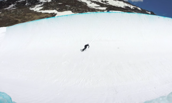 They build snowboarding pipe just for Shuan White, but see just exactly what he does with it