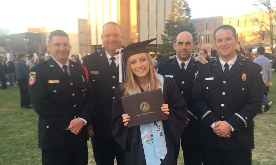 Girl was walking on stage to accept her diploma—when she notices something unusual in the crowd
