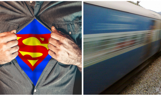 Officer was patrolling train at night, but the sound he hears—he jumps off moving train