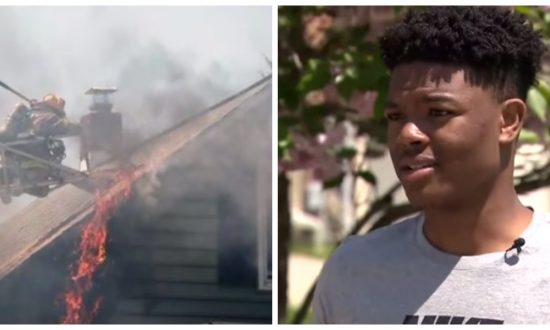 Firefighters were trying to save house that was ablaze—But teen noticed something they'd all missed