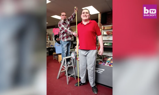 This man is only 18 years old but you won't believe how tall he already is—it's pretty crazy