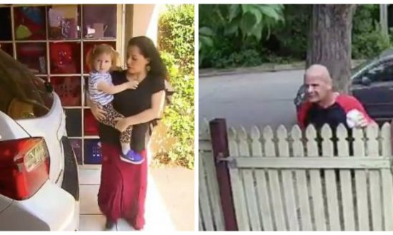 Mom & daughter are asleep when a suspicious man rings doorbell. But who answers—he immediately runs