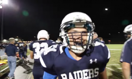 Teenager is deaf—but watch what happens when he plays football for the first time