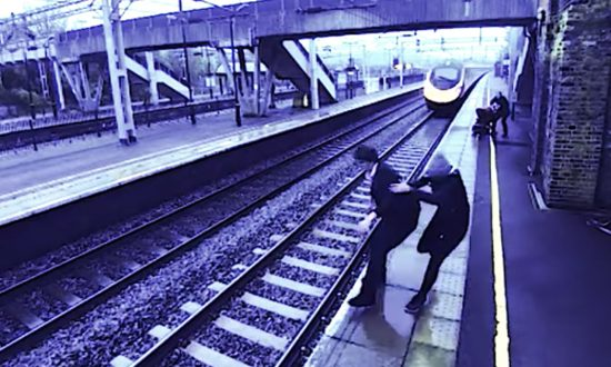 Man at train station is extremely angry. But what he does when train comes flying past—I gasped