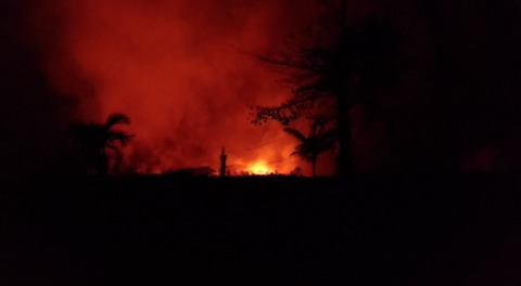Hawaii Volcano Opens New Fissure, Erupting Through the Night