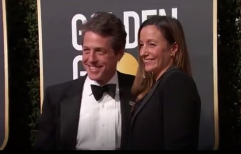 Hugh Grant and His Wife Make First Public Appearance Since Wedding Ceremony