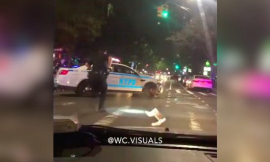 Driver Crashes into Police Cars in Manhattan Before Taking Police on Chase