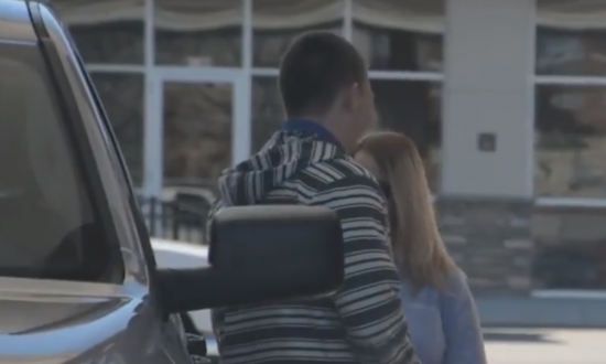 Man is at a gas station, but instead of filling up his car—he's doing unthinkable to others