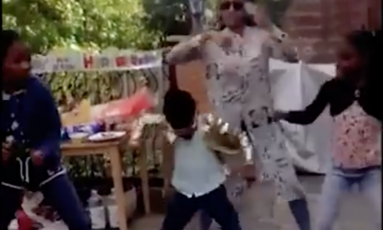 Little girl steals the show at every family party and mom's videos prove it