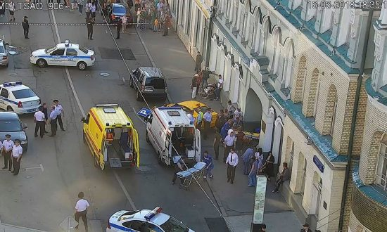 Taxi Plows Into Moscow Crowd, Injuring Seven