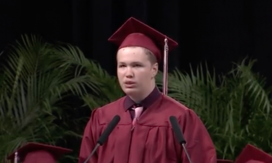 Classmates had never heard boy with autism speak, then he delivers courageous graduation speech