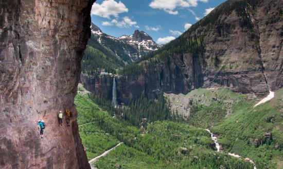 A Sheer 300-Foot Drop Tests Hikers' Mettle on Telluride's Via Ferrata