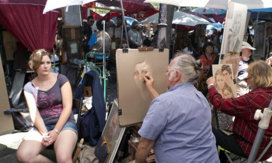 Paris Painters Threaten to Fold Up Easels Over Creeping Cafes